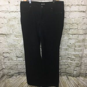 J Crew Black Bootcut Corduroy Pants
